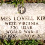 Gravestone marker for S2c James L Kirk